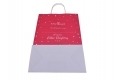 Christmas style shopping gift kraft paper bag-back side view