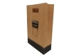 Coffee shop take out paper bag with die cut handle