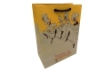 Gift clay coated double kraft paper bag